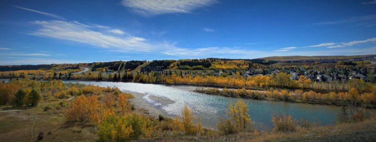 Photo of Bow River in Cochrane from West Valley by Web Designer, BlindDrop.com